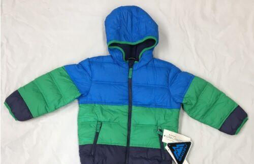 Snozu Boys Down Jacket Light Blue/Green/Blue