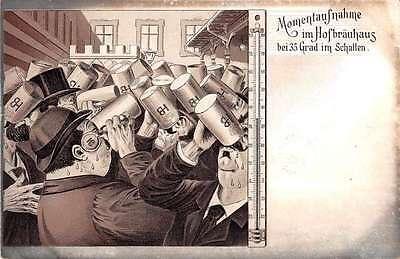 Munich Germany Hofbrauhaus Scene Antique Postcard J50519