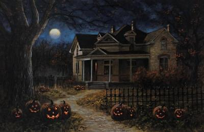 Jon McNaughton Happy Halloween Pumpkin Art Print 15 x 10 (Pumpkin Art)