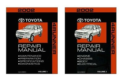 2002 Toyota 4-Runner Shop Service Repair Manual Book