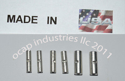 (300) 10-12 14-16 18-22 GAUGE UNINSULATED SEAMLESS BUTT CONNECTOR TERMINAL USA