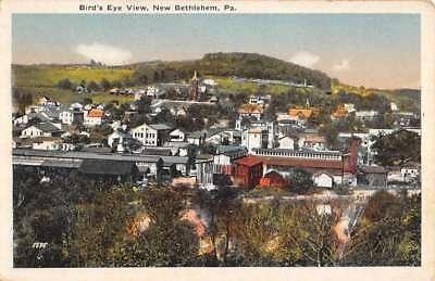 New Bethlehem Pennsylvania Birdseye View Of City Antique Postcard K82292 ()