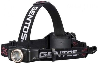 GENTOS GH-010RG LED Headlight 300 Lumens USB Rechargeable Japan with Tracking