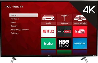 "TCL - 43"" Class - LED - 4 Series - 2160p - Smart - 4K UHD TV with HDR Roku TV"