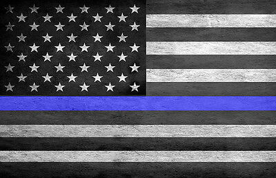 Thin Blue Line Law Enforcement American Flag Two 11x17 Posters