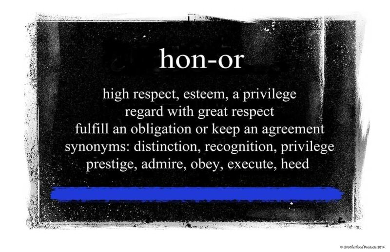 Definition of Honor 24x36 Inch Poster