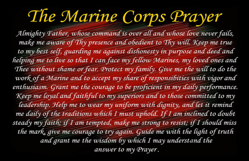 The Marine Corps Prayer - Two 11x17 Posters