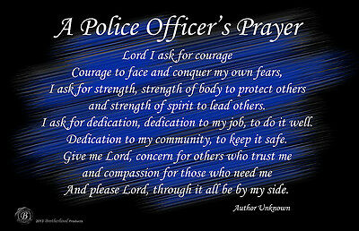 A Police Officer's Prayer 24x36 Inch Poster