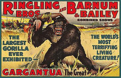 Ringling Brother Gargantaua Circus 11x17 Poster