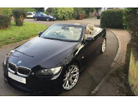 BMW 3 Series 325i black convertable