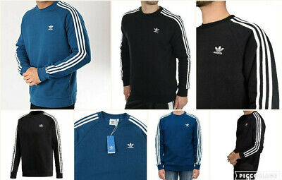 Adidas Original Men's Trefoil 3 Stripes Sweatshirt Jumper DV1554 & DV1555