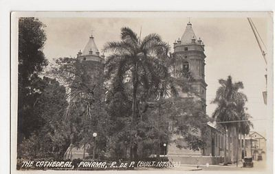 The Cathedral Panama R. De P. Real Photo Postcard, B208
