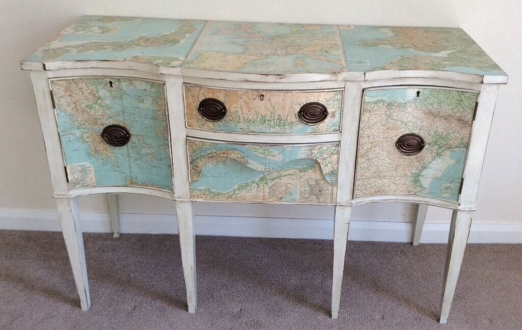 Decoupage shabby chic dressing table