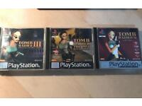 Tomb Raider 2,3 & The Last Revelation - PS1 - Retro Games