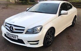 MERCEDES C220 CDI AMG Sport PLUS EDN! *REDUCED PRICE* PEARL WHITE! FSH! 170BHP! C63! AMG! SAT NAV!