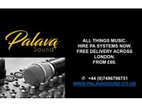 PA System Hire | Sound system Package | DJ Sound Equipment | DJ Hire | Live Sound Engineer Hire.
