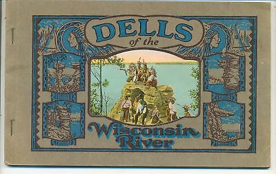 Dells of the Wisconsin River - Color Viewbook  1926