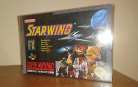 SNES Starwing Super Nintendo Game - Very Rare - UK PAL Version (Part Sealed)