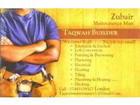 A multi trade affordable builders + maintenance service