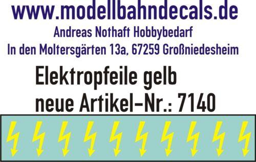 10 Gauge 1 Yellow Elektropfeile 0 9/32x0 5/32in - Decals Top 032-7140