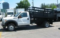 2011 Ford F-550 2wd gas with 12 ft flat deck dump