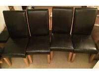 4 Faux Leather Dining Room Chairs