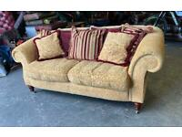 £2000 Barker & Stonehouse fabric chesterfield 3 seater sofa UK DELIVERY