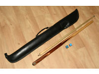 Two piece BCE Snooker Cue