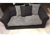 Black & grey sofa bed