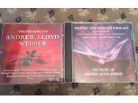 ANDREW LLOYD WEBBER CD'S X 2 (priced for both)