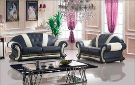 Versace Leather Sofa 3 + 2 + 1