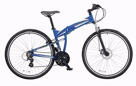 LAND ROVER X ELITE FULL SIZE FOLDING BIKE LEIGHTWEIGHT LIKE NEW BARGAIN LOADS OF ACCESSORIES
