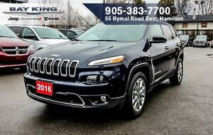 2016 Jeep Cherokee LIMITED, HEATED LEATHER, REMOTE START, 8.4 DI