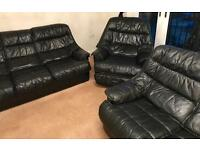 Cambria 3 piece Leather Suite made in UK
