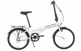 Carrera Transit Folding Bike in White - less than a year old and very good conditon.