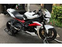 FOR SALE Triumph Street Triple R White 2013 ABS + extras 12.5k £5,250 SW19