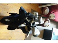 Various Youth & Mens Golf Clubs + Balls + Tees + Bag