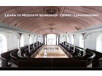 Learn to Meditate workshop - The Glassworks - Derry - Londonderry