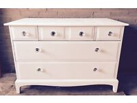 Stag Minstrel Chest of Drawers - Shabby Chic - Hand Painted in Everlong Vintage Chalk Paint
