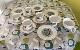 Bone china tea set sugar bowl milk jug
