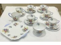 Shelley Bone China Tea set - Pattern No. 2351 - Wild flowers