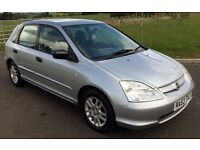IMMACULATE 2003 53 PLATE HONDA CIVIC 1.7 CDTi met silver 96k, Mot'd until 2017, 2 keys lovely car !!