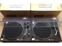 2 X Technics SL-1210 MK2 Turntables With Original Lids & Technics Needles