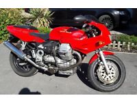Beautiful Red Moto Guzzi 1100 sport - carb