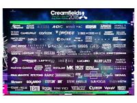 CREAMFIELDS SILVER FOUR DAY CAMPING TICKET FOR SALE!!