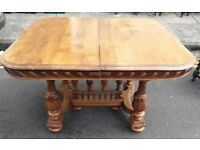 French walnut small dining table