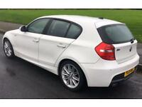 BMW 118D M/SPORT,WHITE,AUTO/TRIP,FULLY LOADED,HPI CLEAR,117K SERVICE History .FULL MOT good drive