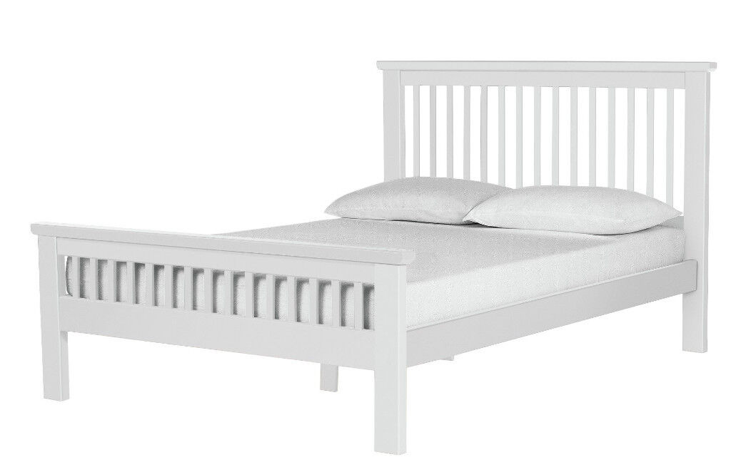 EX DISPLAY Aubrey Double Bed Frame - White | in Bradford, West ...