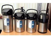 4 x Thermos Vacuum Pump Airpots - From £17.50 Each