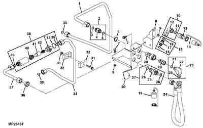 John Deere Lvb25098 Power Beyond Kit 4510 4610 4710 Tractor For 48 Backhoe